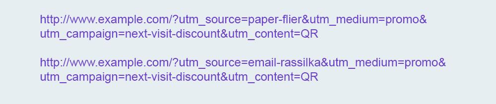Использование UTM-меток для QR кодов